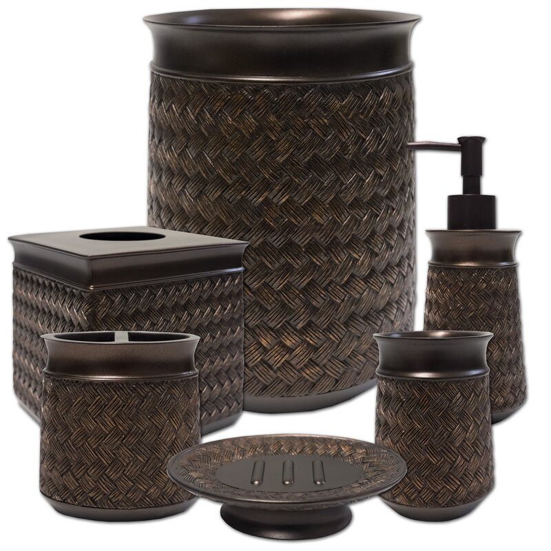 Rosebank 6 Piece Bathroom Accessory Set