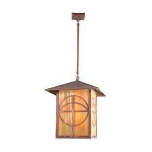 Loon Peak Villagomez Circle Cross 1-Light Lantern Pendant