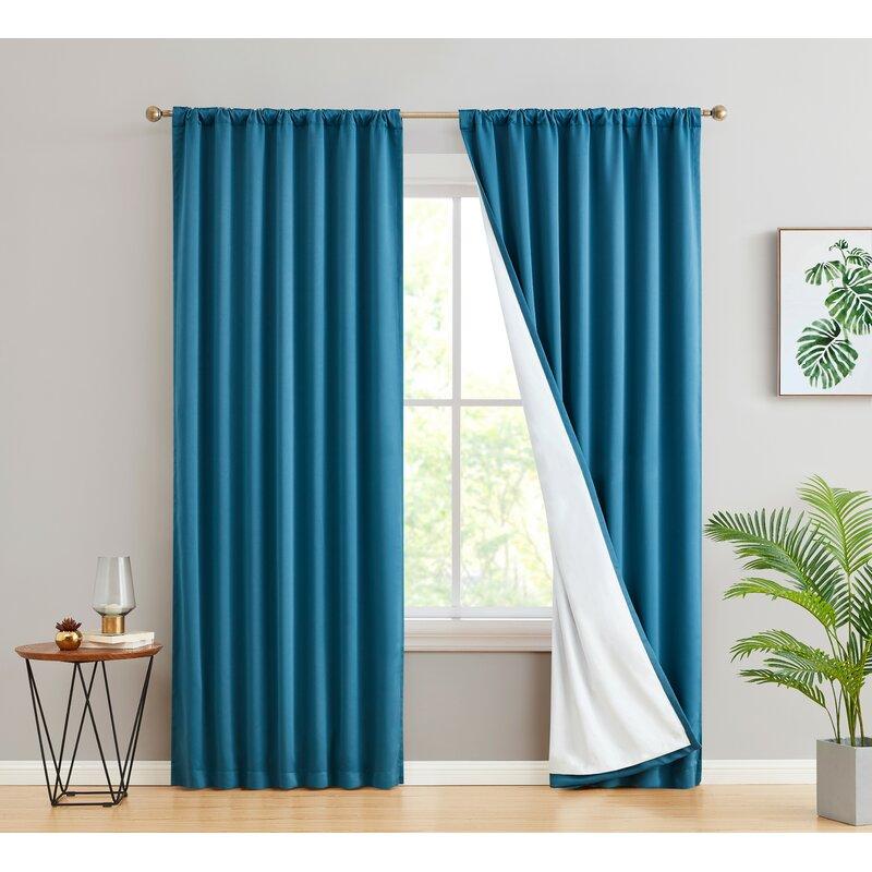 Latitude Run Arbas Solid Max Blackout Thermal Rod Pocket Curtain Panels Reviews Wayfair