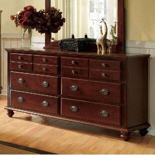 Quarry 12 Drawer Double Dresser