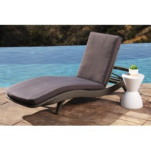 Wade Logan Zanthus Chaise Lounge with Cushion