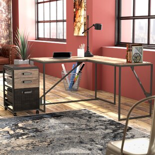 Edgerton 2 Piece L-Shaped Configurable Office Set