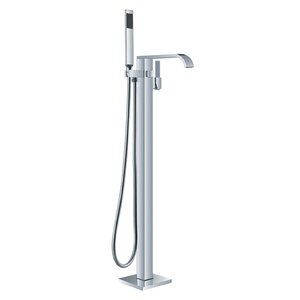 HelixBath Kaieteur Single Handle Floor Mount Freestanding Tub Filler