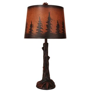 Jayden Rust Tree Trunk with Root 27 Table Lamp