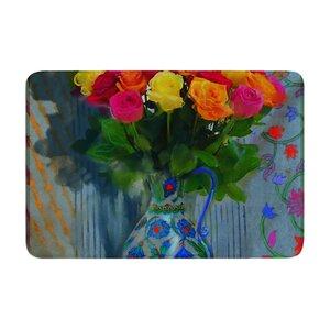 S. Seema Z Spring Bouquet Flowers Memory Foam Bath Rug