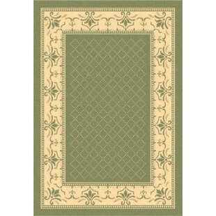 Comparison Beasley Olive/Natural Outdoor Area Rug By Astoria Grand