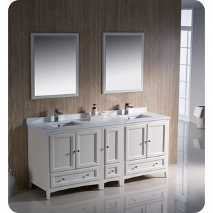 Oxford 72 Double Bathroom Vanity Set with Mirrors By Fresca