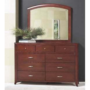 Travis 9 Drawer Dresser with Mirror