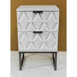 Compare Manders 2 Drawer Nightstand by Wrought Studio