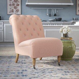 Lark Manor Legault Roll Back Tufted Slipper Chair