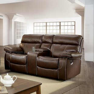 Red Barrel Studio Helle Contemporary Love Seat Leather Manual Wall Hugger Recliner