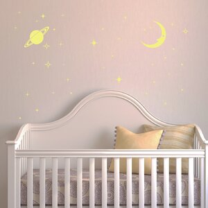 Moon and Stars Glow Wall Decal