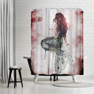Affordable Price Sam Nagel Mermaid 2 Shower Curtain ByEast Urban Home