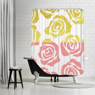 Comparison Aphan Rosesa 1 Shower Curtain By House of Hampton