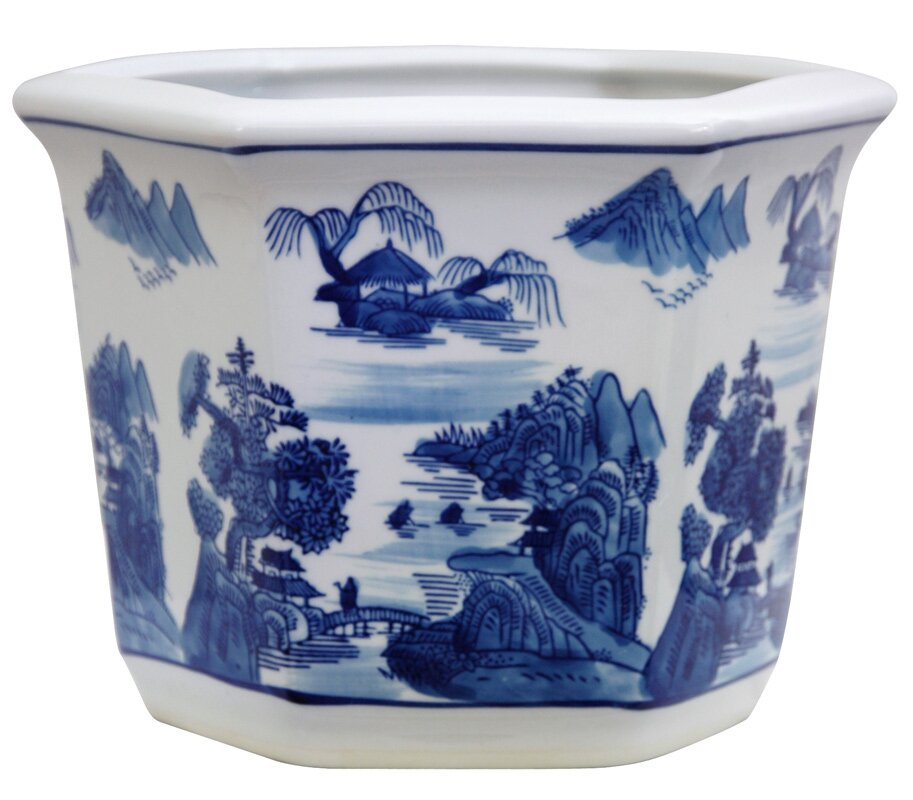 Christiane Chinese Porcelain Pot Planter