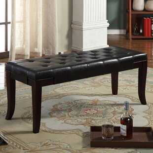 Charlton Home Nathanael Leather Bench