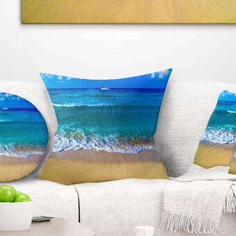 East Urban Home Seashore Sharrow Beach In Cornwall Lumbar Pillow Wayfair