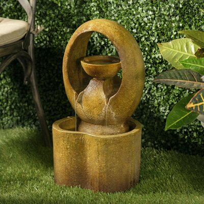 Image of Resin Outdoor Tiered Fountain Alfresco Home