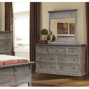 Lowenstein 7 Drawer Combo Dresser with Mirror