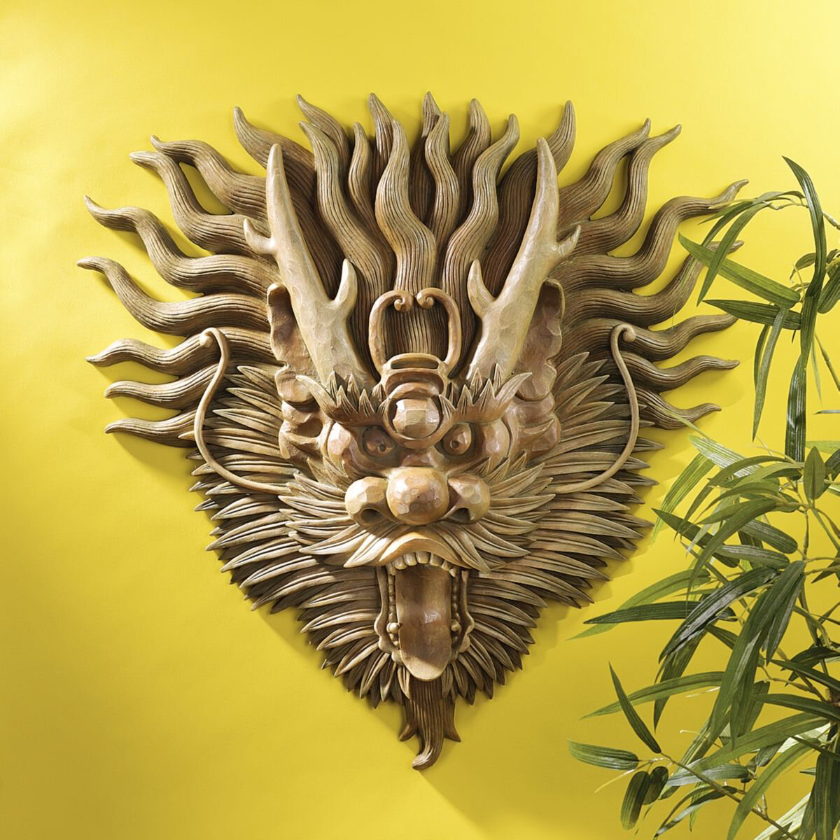 Design Toscano Tibetan Sculptural Dragon Wall Décor & Reviews | Wayfair