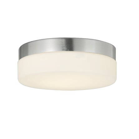 Aolaith 1 - Light 9'' Simple Drum LED Flush Mount