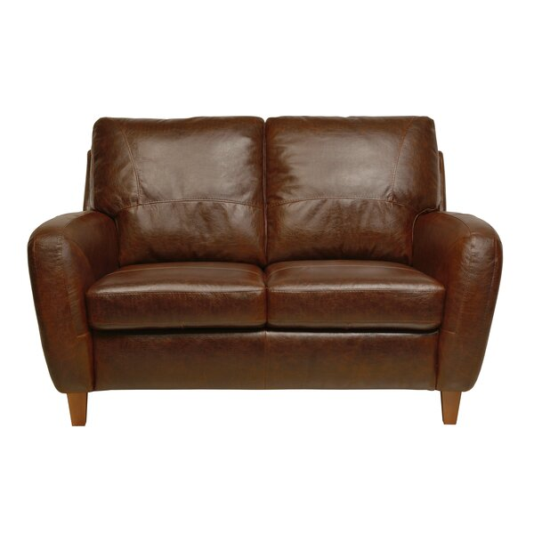 Groovy Light Brown Leather Loveseat Wayfair Onthecornerstone Fun Painted Chair Ideas Images Onthecornerstoneorg