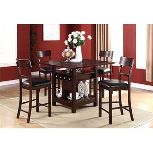 Stevenson 5 Piece Pub Table Set Canora Grey