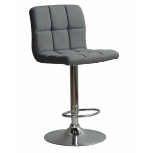 Grier Adjustable Height Swivel Bar Stool Ebern Designs