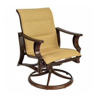 Arkadia Padded Swivel Rocker Patio Dining Chair (Set of 2)