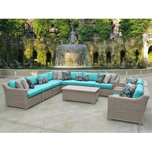 Coast 10 Piece Sectional Seating Group with Cushions