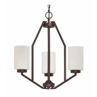 Ebern Designs Philbrick 3-Light Shaded Chandelier
