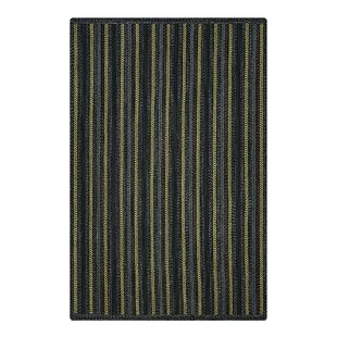 Kylee Hand-Braided Black Indoor/Outdoor Area Rug By August Grove