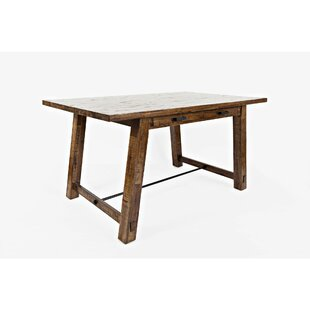 Workman Counter Height Solid Wood Dining Table by Loon Peak Spacial Price
