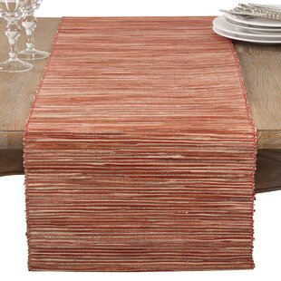 Bevis Shimmering Woven Nubby Natural Water Hyacinth Table Runner