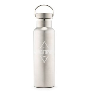 Sandberg Diamond Emblem Print Personalized 25 oz. Stainless Steel Water Bottle