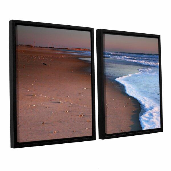 ArtWall 3 Piece Steve Ainsworths Sea and Surf Floater Framed Canvas Artwork 24 x 36