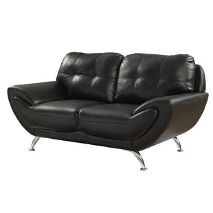 Sanni Contemporary Loveseat by Ebern Designs New