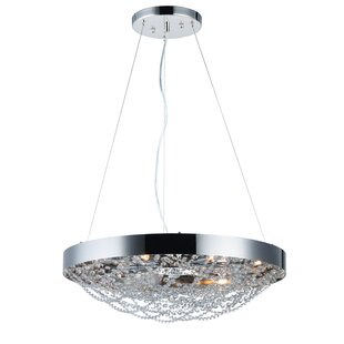 Everly Quinn Lansdown 10-Light Bowl Pendant
