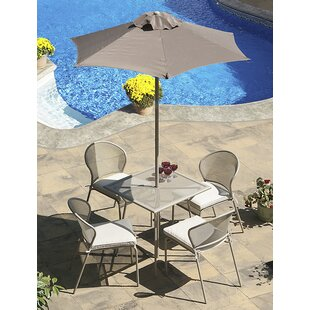Encanto 4 Seater Dining Set With Upholstery By Sol 72 Outdoor