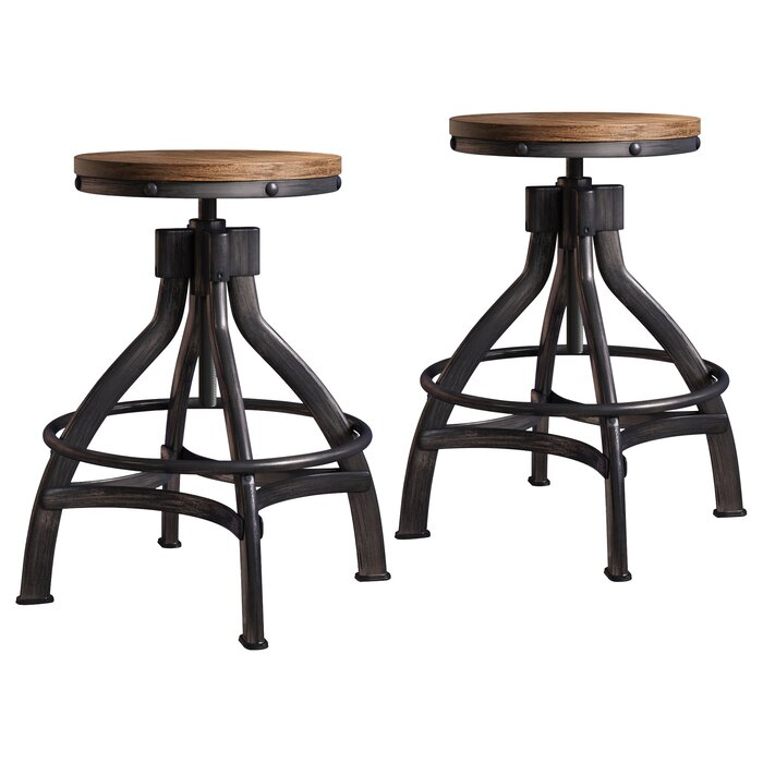 Lane Wellman (set of 2) Bar Stool   Item# 12120