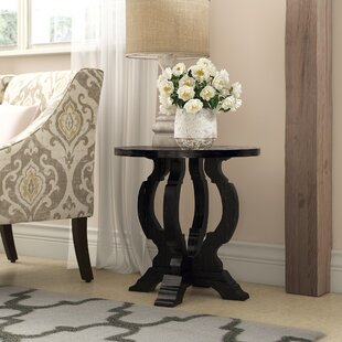 Indurial Pedestal End Table By One Allium Way