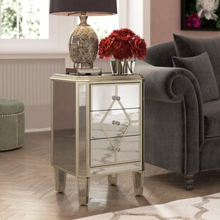 Thayer Mirrored 3 Drawer Cabinet by House of Hampton