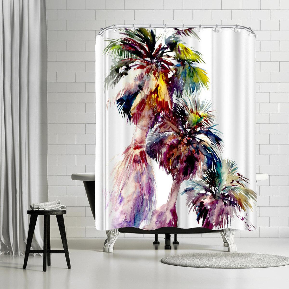 East Urban Home Suren Nersisyan Desert Palms Palm Springs Single Shower Curtain Wayfair
