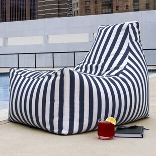 Outdoor Striped Bean Bag Lounger