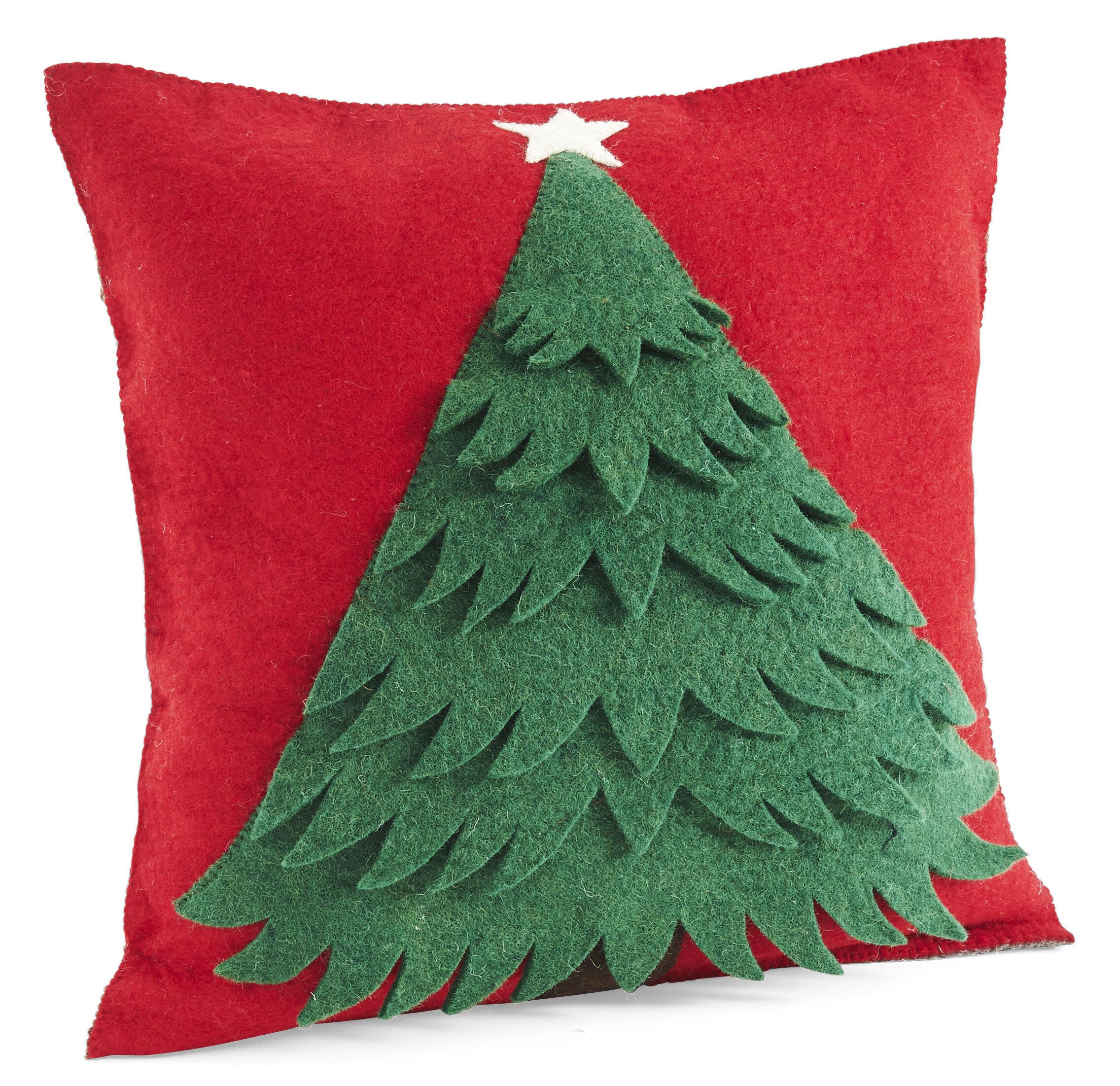 The Holiday Aisle Hinton Charterhouse Handmade Christmas Wool Throw Pillow Wayfair
