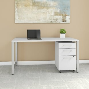 400 Series 3 Drawer Desk with File Cabinet