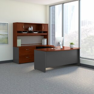 Bush Business Furniture Series C U Shaped Desk Office Suite