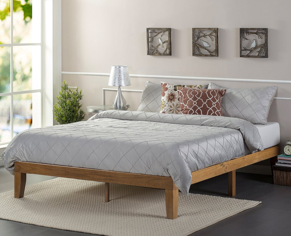 zinus wood platform bed  reviews  wayfair - defaultname