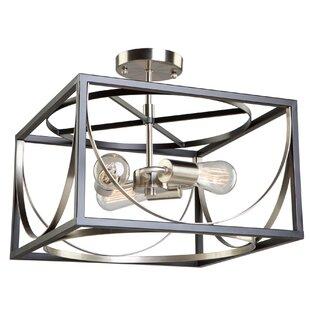 Corona 3-Light Semi Flush Mount by Artcraft Lighting