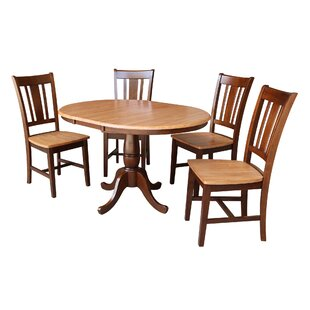 Alaska 5 Piece Extendable Solid Wood Dining Set